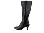 PP205 Boots Black Leather with Silver Heel