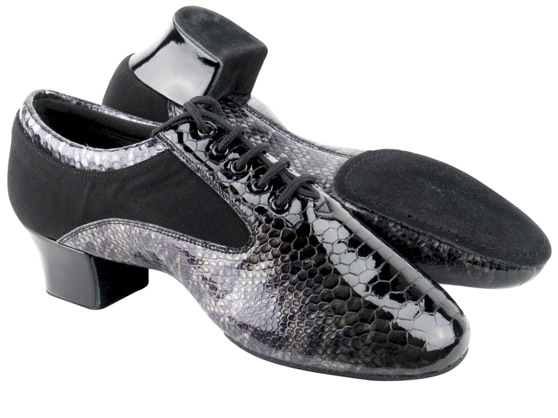 Men's Latin & Rhythm - Very Fine Signature - S445 - Snake Patent Leather