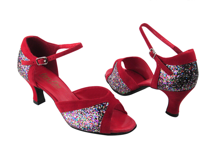 6024 Party Sparkle Red Velvet Trim