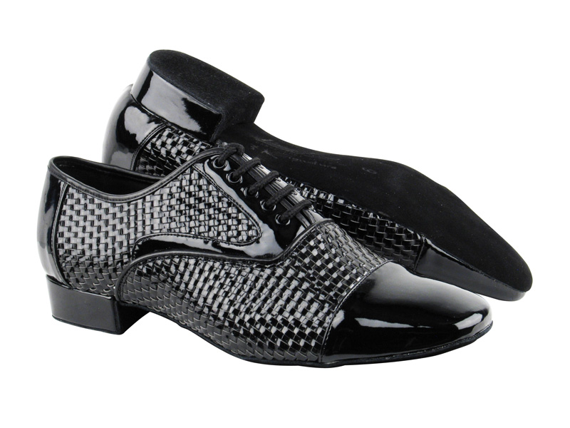 Men's Standard & Smooth - Very Fine Signature - S306B - Black Weave Patent
