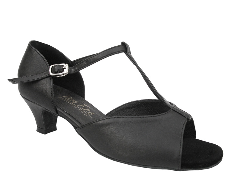 Ladies' Practice & Cuban heel - Very Fine Classic - 1609 - Black Leather