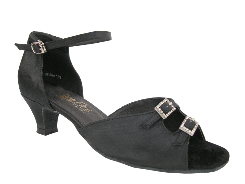 Ladies' Practice & Cuban heel - Very Fine Classic - 1620 - Black Satin