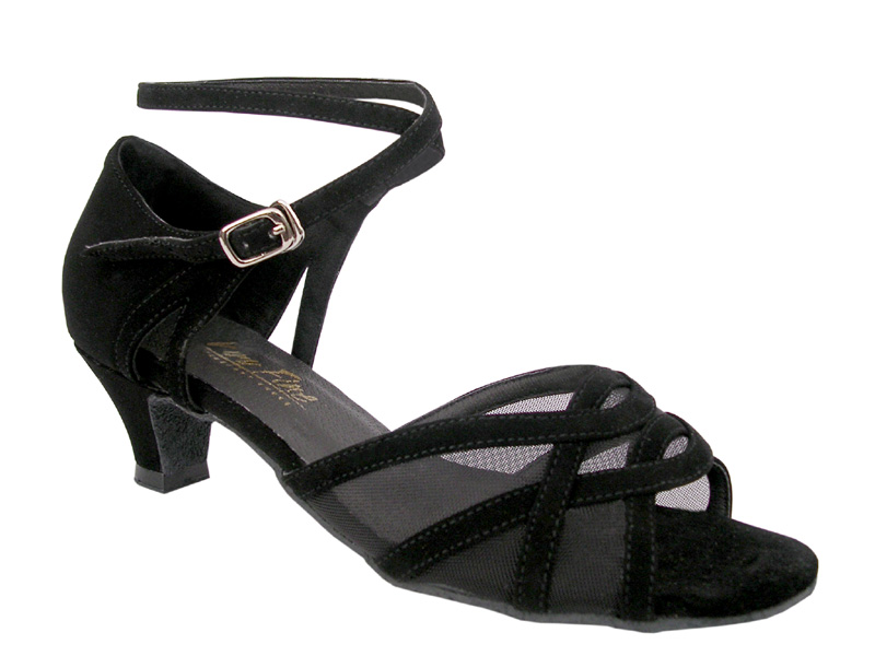 Ladies' Practice & Cuban heel - Very Fine Classic - 1657 - Black Nubuck & Black Mesh