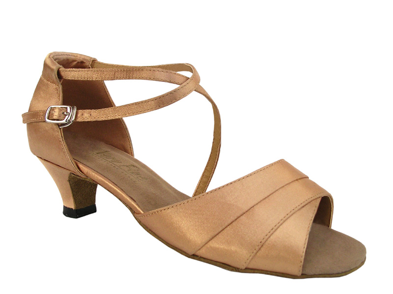 Ladies' Practice & Cuban heel - Very Fine Classic - 1659 - Brown Satin