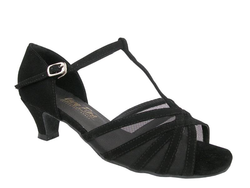 Ladies' Practice & Cuban heel - Very Fine Classic - 16612 - Black Nubuck & Black Mesh