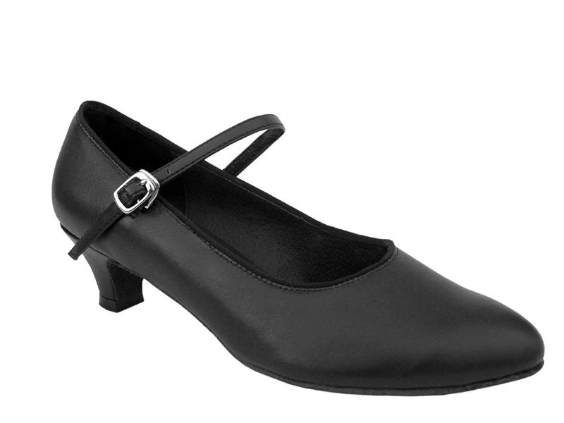 Ladies' Practice & Cuban heel - Very Fine Classic   - 1682 - Black Leather