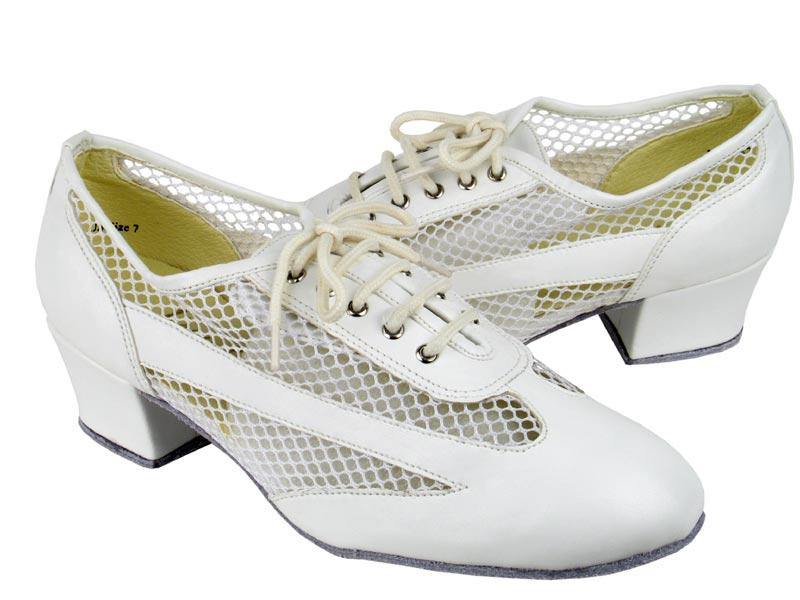 Ladies' Practice & Cuban heel - Very Fine Classic   - 2009 - White Leather