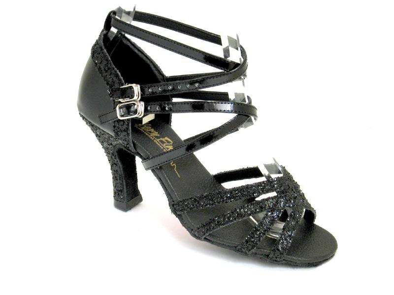Ladies' Latin, Rhythm & Salsa - Very Fine Classic   - 5008Mirage - Black Sparkle & Black Patent