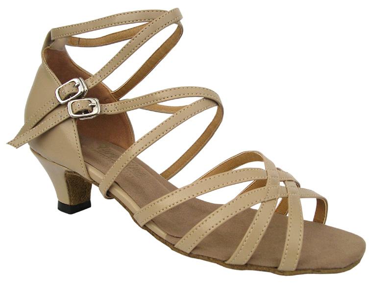 Ladies' Practice & Cuban heel - Very Fine Classic - 5008 - Tan Leather