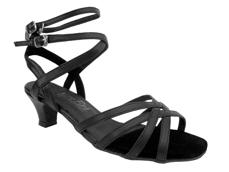 Ladies' Practice & Cuban heel - Very Fine Classic - 5009 - Black Leather