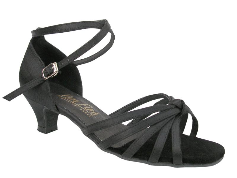 Ladies' Practice & Cuban heel - Very Fine Classic - 6005 - Black Satin