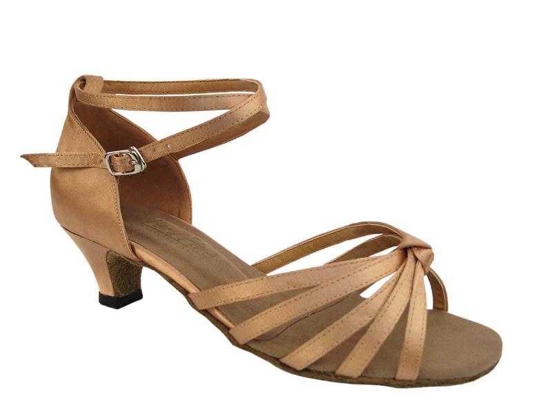 Ladies' Practice & Cuban heel - Very Fine Classic - 6005 - Brown Satin
