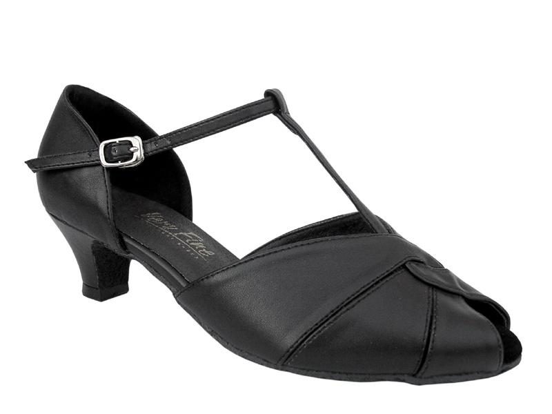 Ladies' Practice & Cuban heel - Very Fine Classic - 6006 - Black Leather