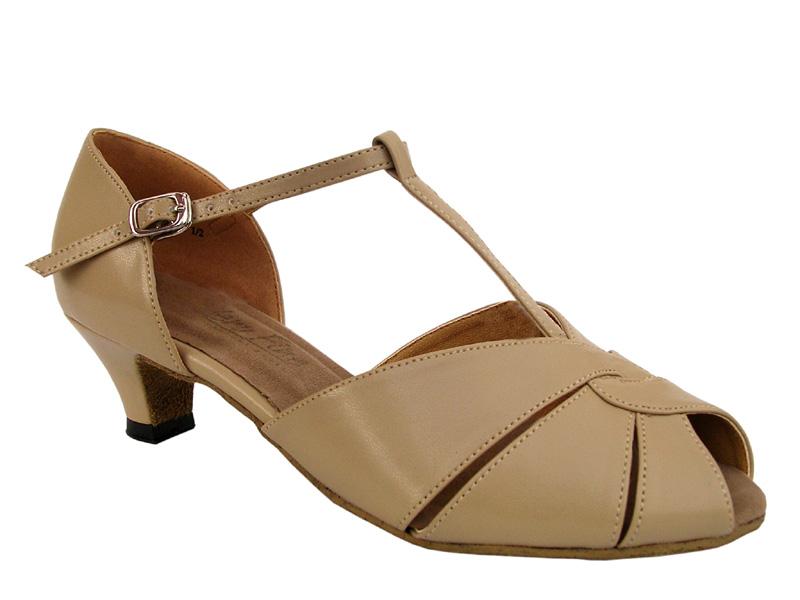 Ladies' Practice & Cuban heel - Very Fine Classic - 6006 - Tan Leather