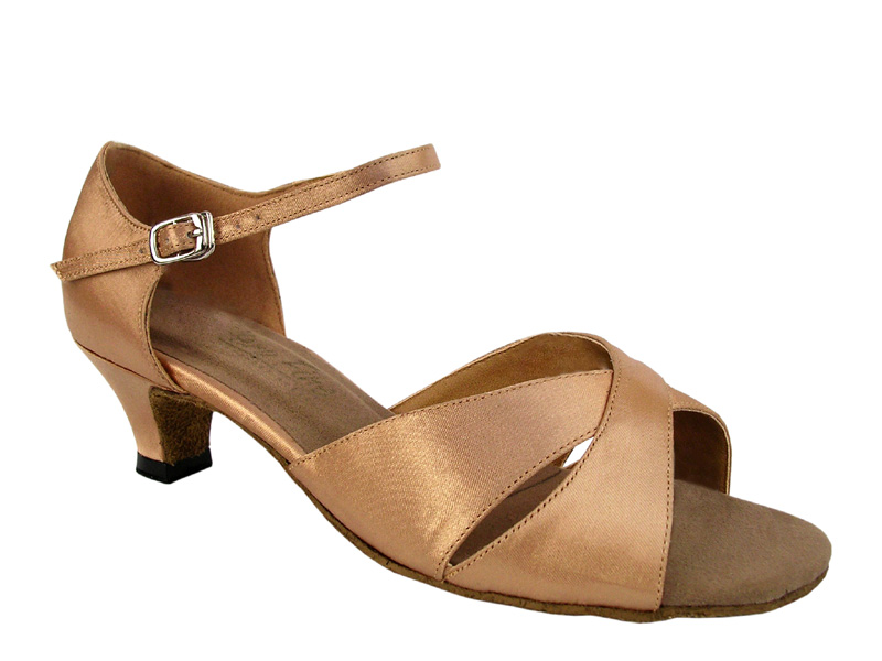 Ladies' Practice & Cuban heel - Very Fine Classic - 6029 - Brown Satin