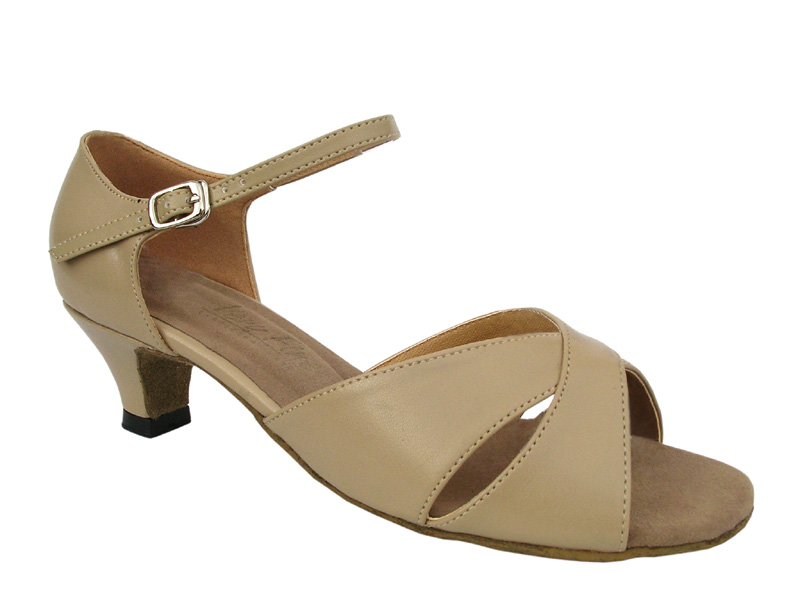 Ladies' Practice & Cuban heel - Very Fine Classic - 6029 - Tan Leather