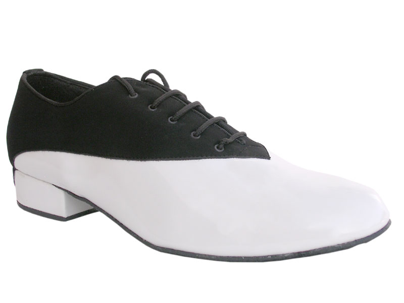Men's Standard & Smooth - Very Fine Classic - 2504 - Black Nubuck & White Patent