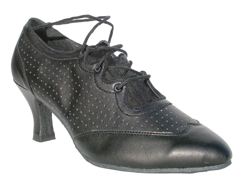 Ladies' Standard & Smooth - Very Fine Classic   - 6823 - Black Perforated Leather