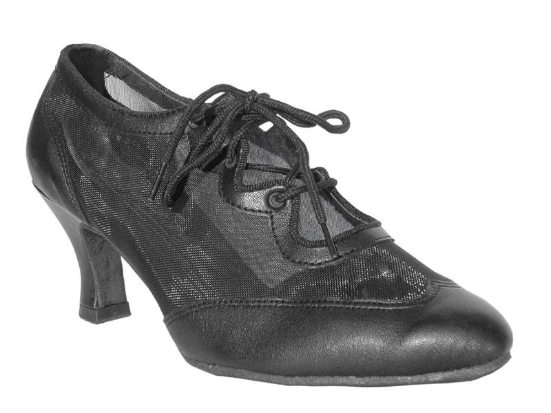 Ladies' Standard & Smooth - Very Fine Classic   - 6823 - Black Leather & Black Mesh