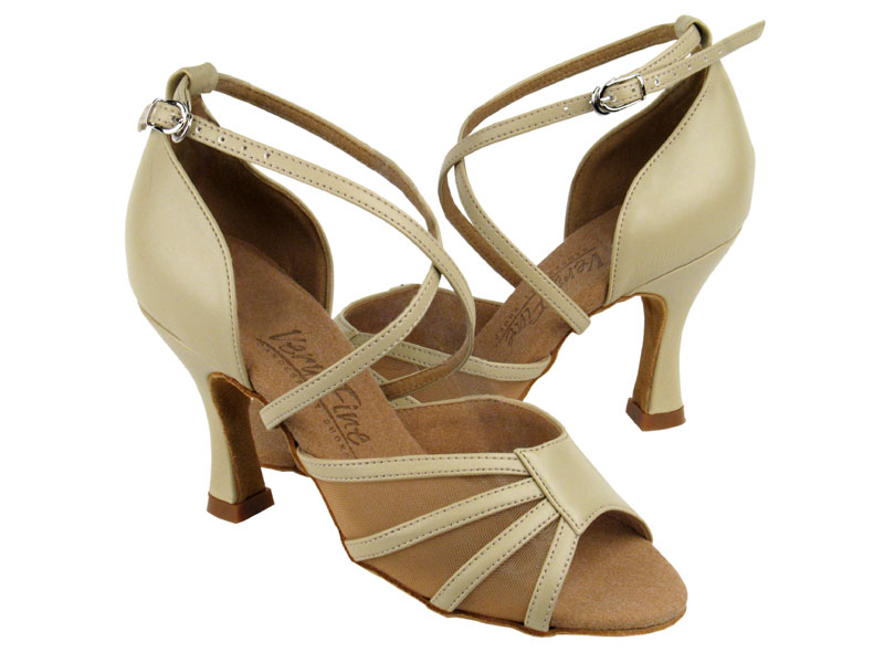 Ladies' Latin, Rhythm & Salsa - Very Fine C Series - C1601 - Beige Leather