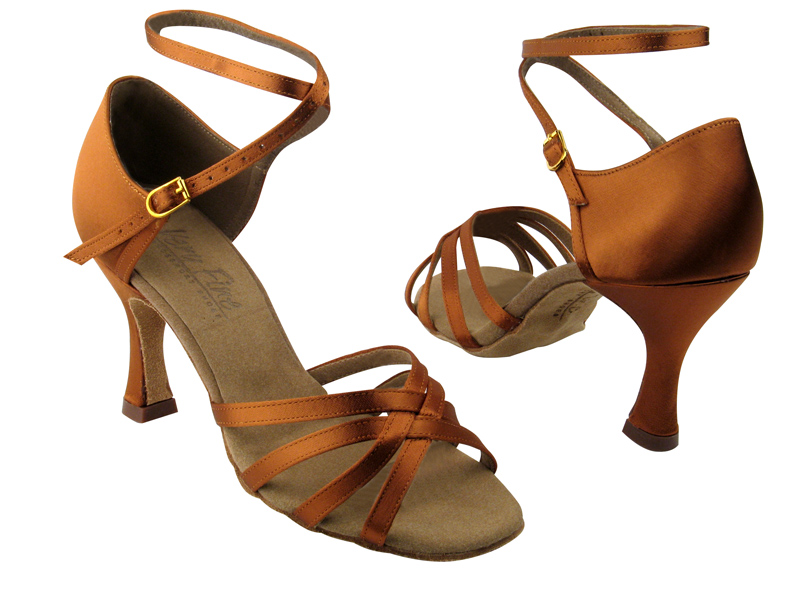 Ladies' Latin, Rhythm & Salsa - Very Fine C Series - C1606 - Dark Tan Satin