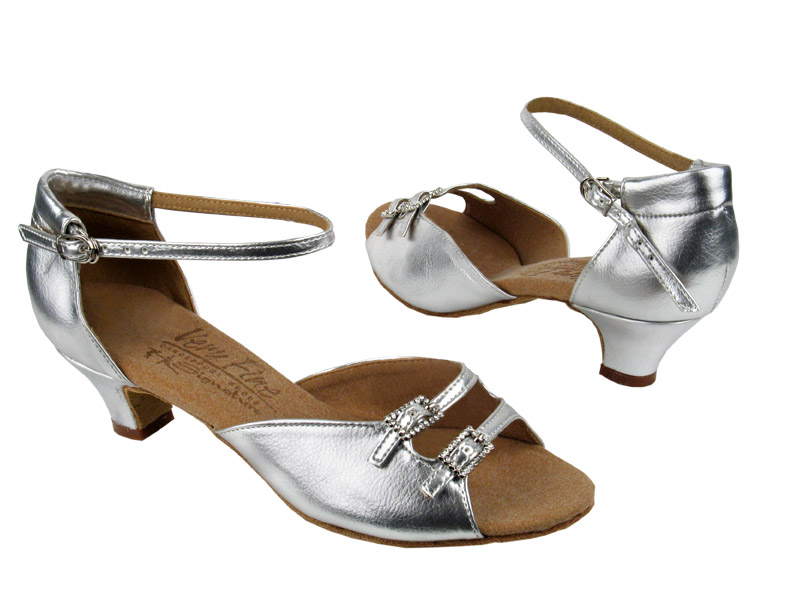 Ladies' Practice & Cuban heel - Very Fine C Series - C1620 - Silver Leather