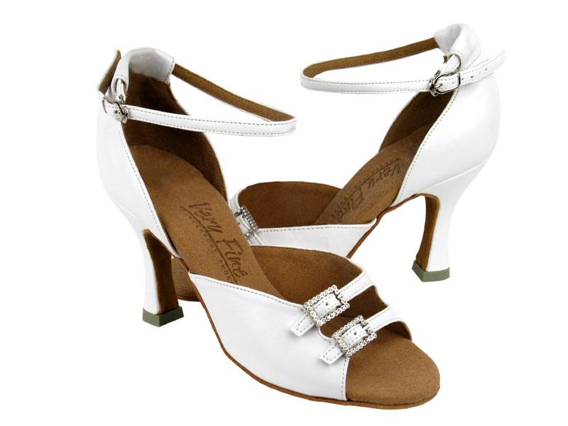 Ladies' Latin, Rhythm & Salsa - Very Fine C Series - C1620 - White Leather