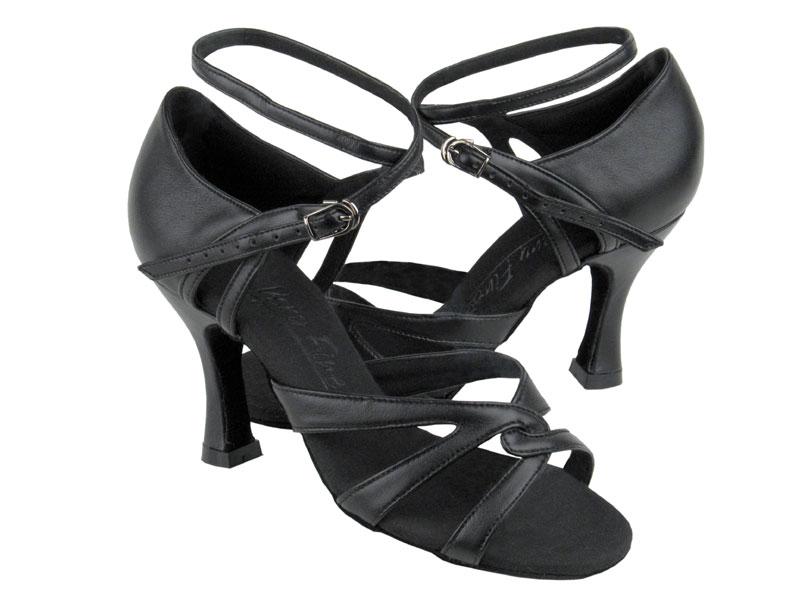 Ladies' Latin, Rhythm & Salsa - Very Fine C Series - C1658 - Black Leather