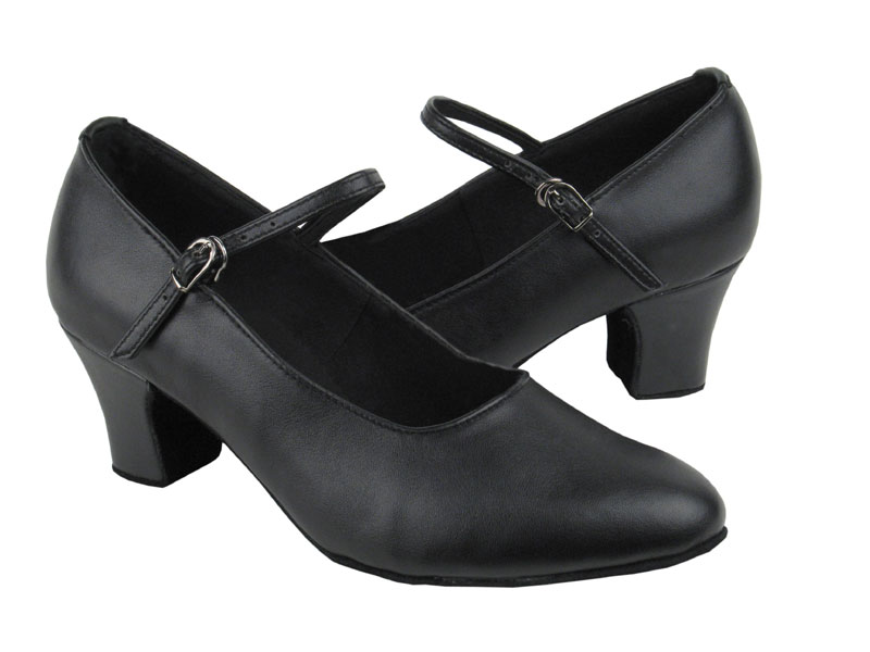 Ladies' Practice & Cuban heel - Very Fine C Series - C1682 - Black Leather