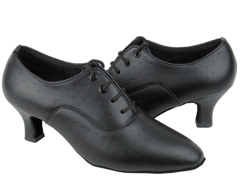 Ladies' Standard & Smooth - Very Fine C Series - C1689 - Black Perforated Leather