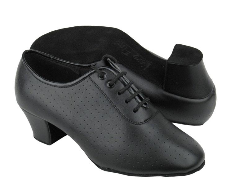 Ladies' Practice & Cuban heel - Very Fine C Series - C2001 - Black Leather