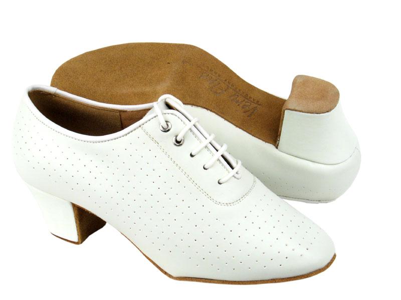 Ladies' Practice & Cuban heel - Very Fine C Series - C2001 - White Leather