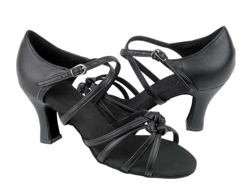 Ladies' Latin, Rhythm & Salsa - Very Fine C Series - C5011 - Black Leather