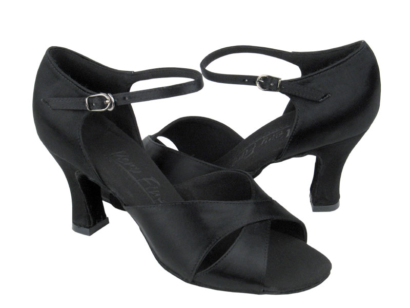 Ladies' Latin, Rhythm & Salsa - Very Fine C Series - C6029 - Black Satin