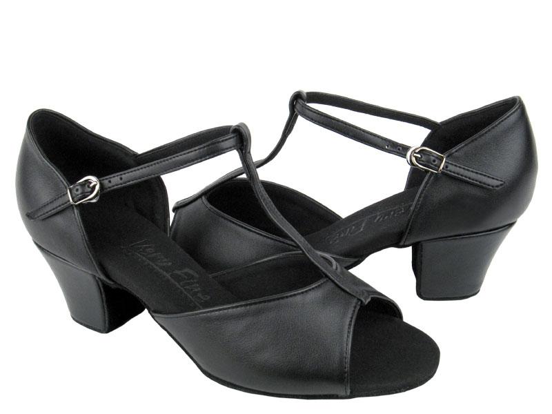 Ladies' Practice & Cuban heel - Very Fine C Series - C801 - Black Leather