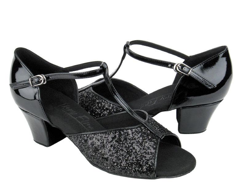 Ladies' Practice & Cuban heel - Very Fine C Series - C801 - Black Sparkle