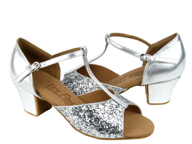 Ladies' Practice & Cuban heel - Very Fine C Series - C801 - Silver Sparkle