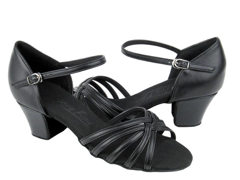 Ladies' Practice & Cuban heel - Very Fine C Series - C802 - Black Leather