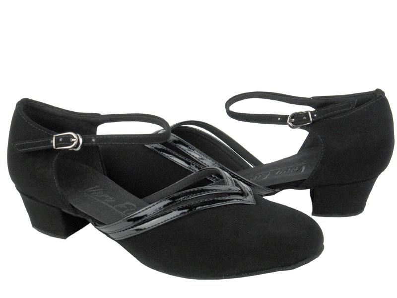 Ladies' Practice & Cuban heel - Very Fine C Series - C8881 - Black Nubuck & Black Trim