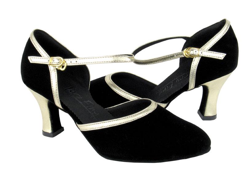 Ladies' Standard & Smooth - Very Fine C Series - C9621 - Black Nubuck & Gold Trim