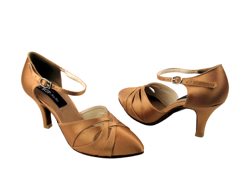 Ladies' Standard & Smooth - VF Competitive Dancer - CD6007 - Tan Satin