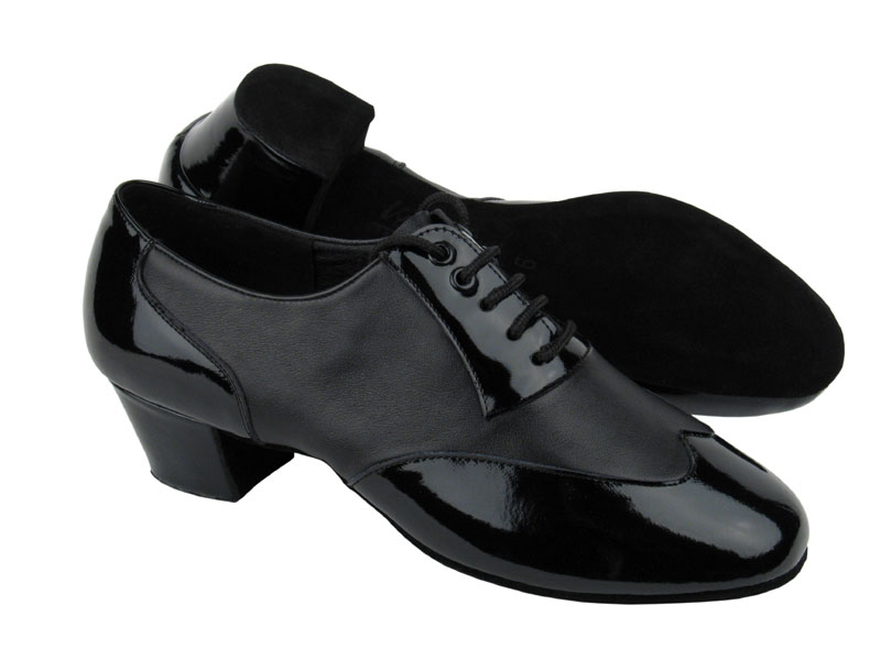 Men's Latin & Rhythm - Very Fine C Series - CM100101 - Black Patent & Black Leather