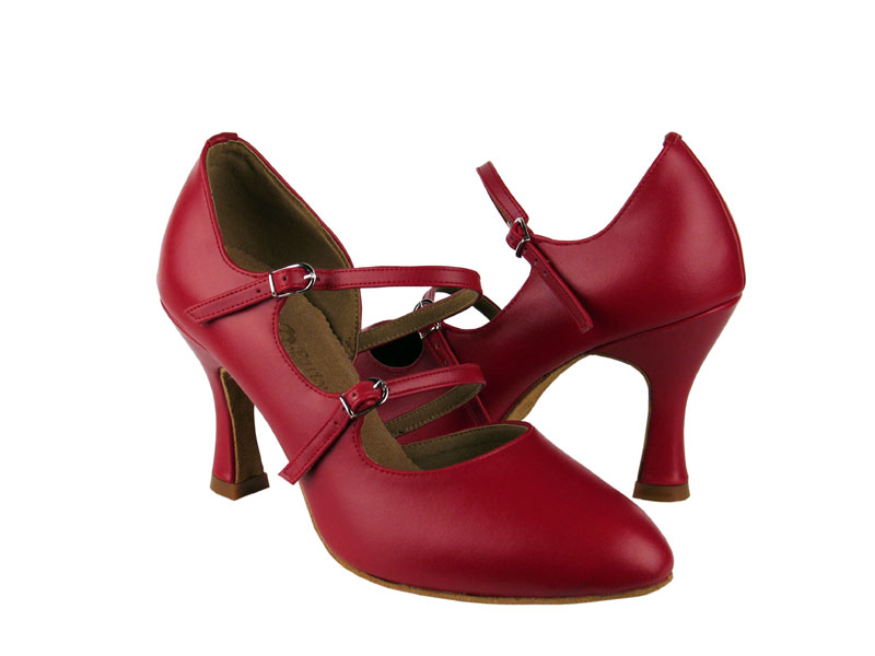 Ladies' Standard & Smooth - Very Fine Party Party - PP201 - Red Leather
