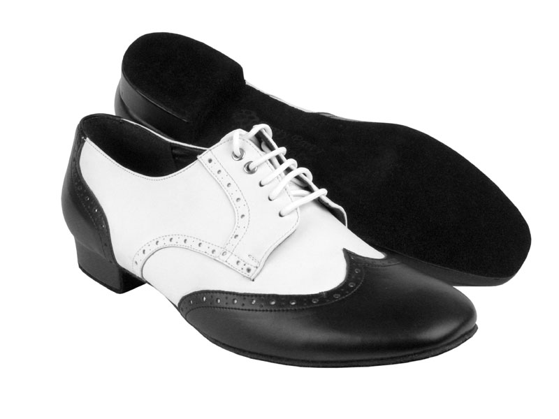 Men's Standard & Smooth - Very Fine Party Party - PP301 - Black Leather & White Leather