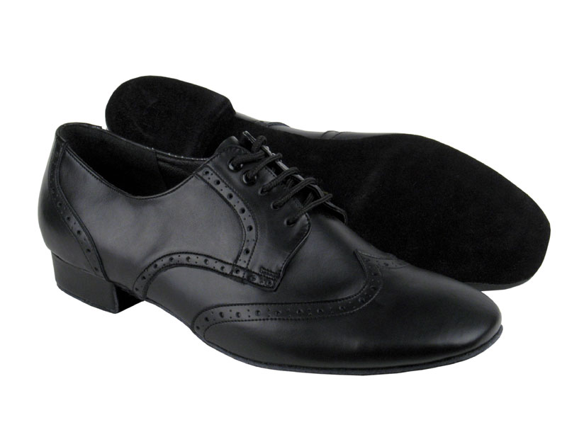 Men's Standard & Smooth - Very Fine Party Party - PP301 - Black Leather