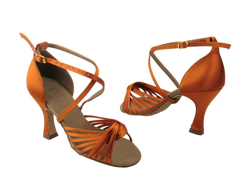 Ladies' Latin, Rhythm & Salsa - Very Fine Signature - S1001 - Orange Tan Satin