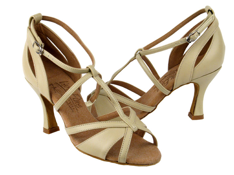 Ladies' Latin, Rhythm & Salsa - Very Fine Signature - S1002 - Beige Leather