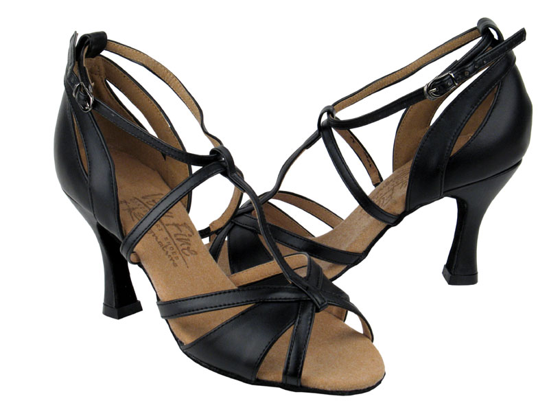 Ladies' Latin, Rhythm & Salsa - Very Fine Signature - S1002 - Black Leather