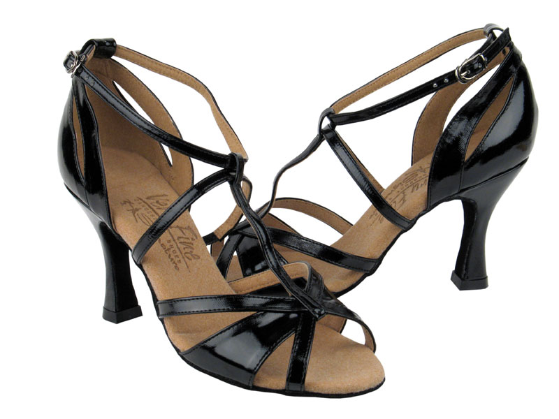 Ladies' Latin, Rhythm & Salsa - Very Fine Signature - S1002 - Black Patent