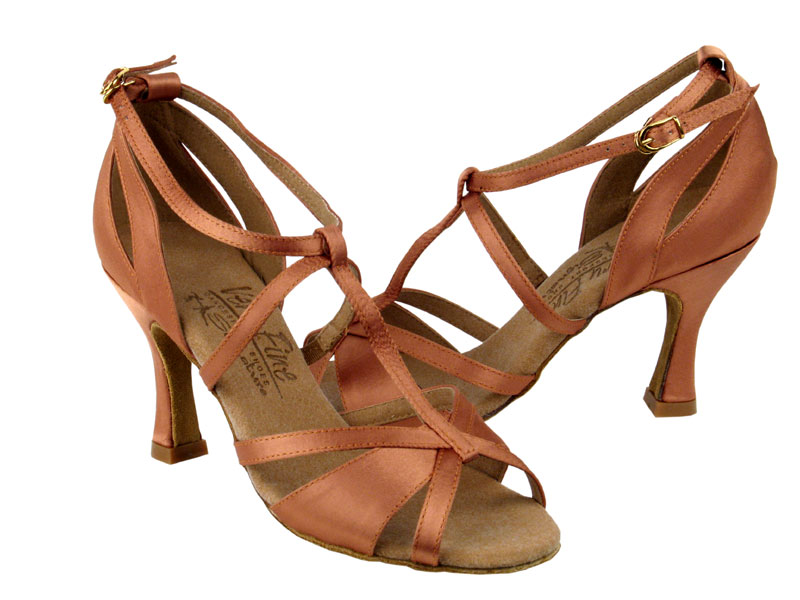 Ladies' Latin, Rhythm & Salsa - Very Fine Signature - S1002 - Tan Satin